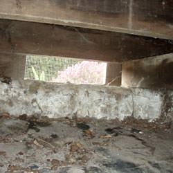 A crawl space vent in Glen Carbon that's bringing moisture into the home