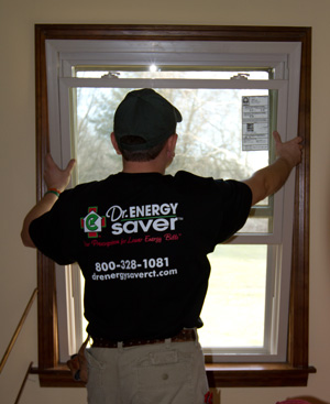 Low-e energy efficient window installation